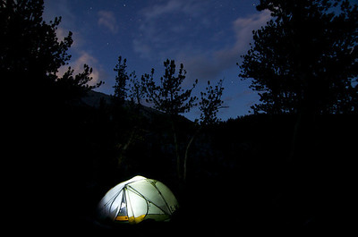 Stars above our tent